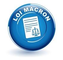 loi macron sur bouton bleu